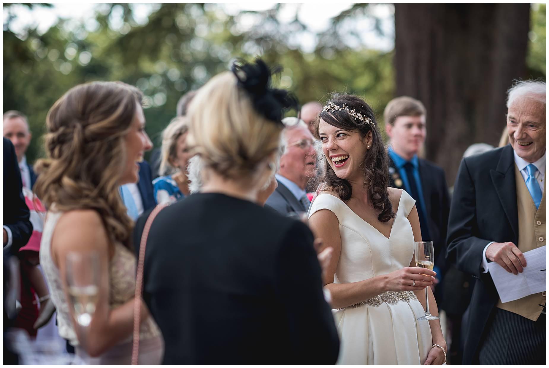 bride also laughs