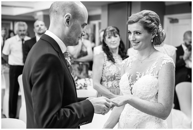 wedding Cannizaro House indoor ceremony