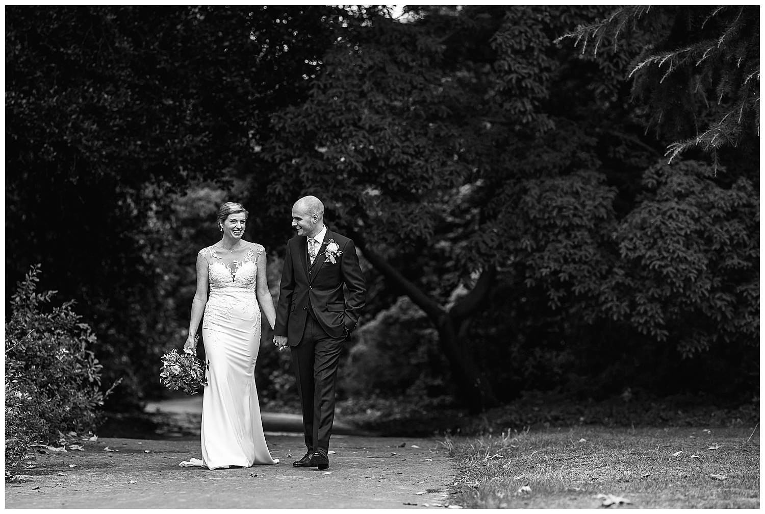 walking through wimbledon park wedding