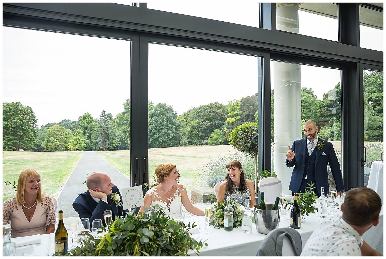 speeches at Cannizaro House Wedding