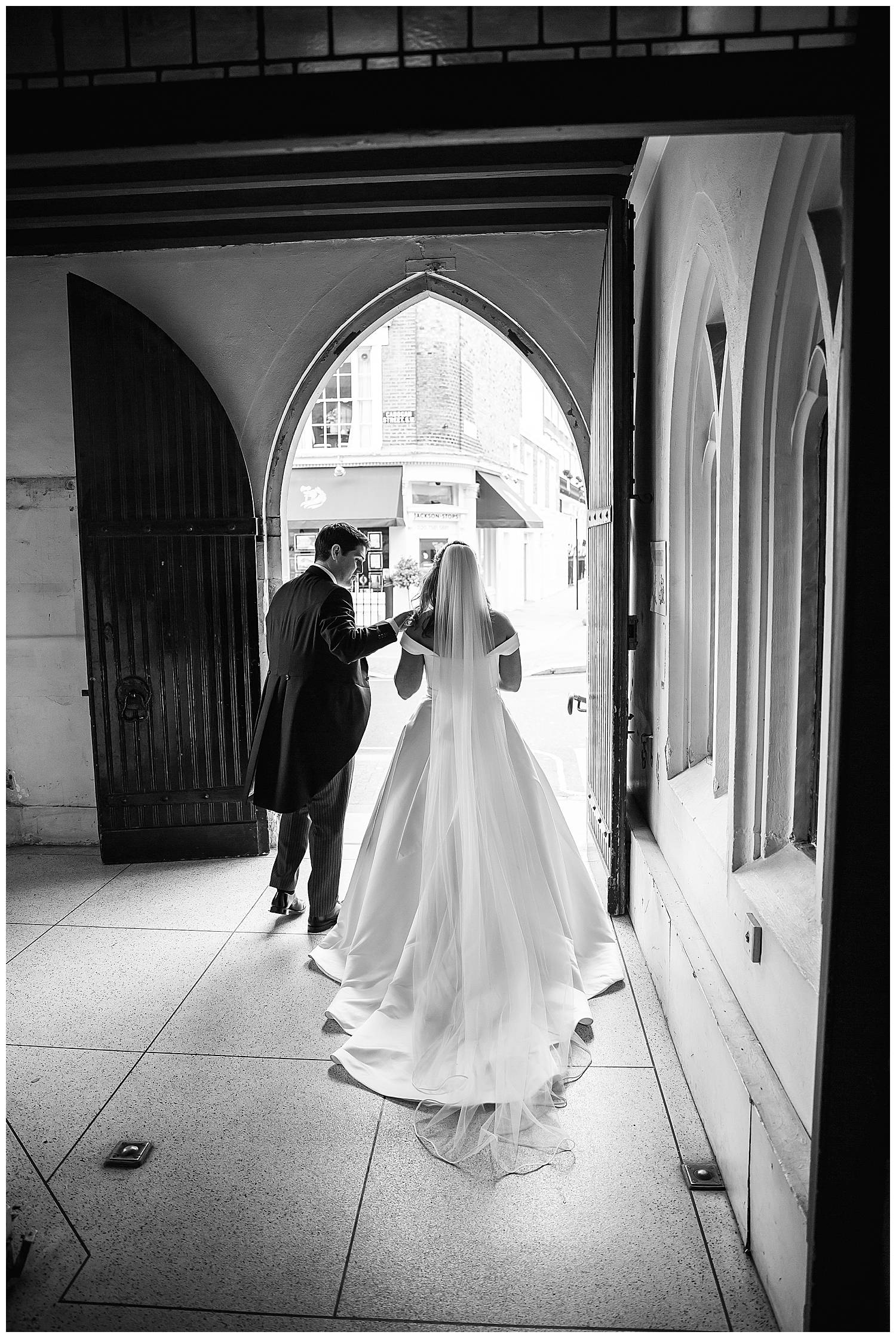 leaving wedding at St Mary's Cadogan Street SW3