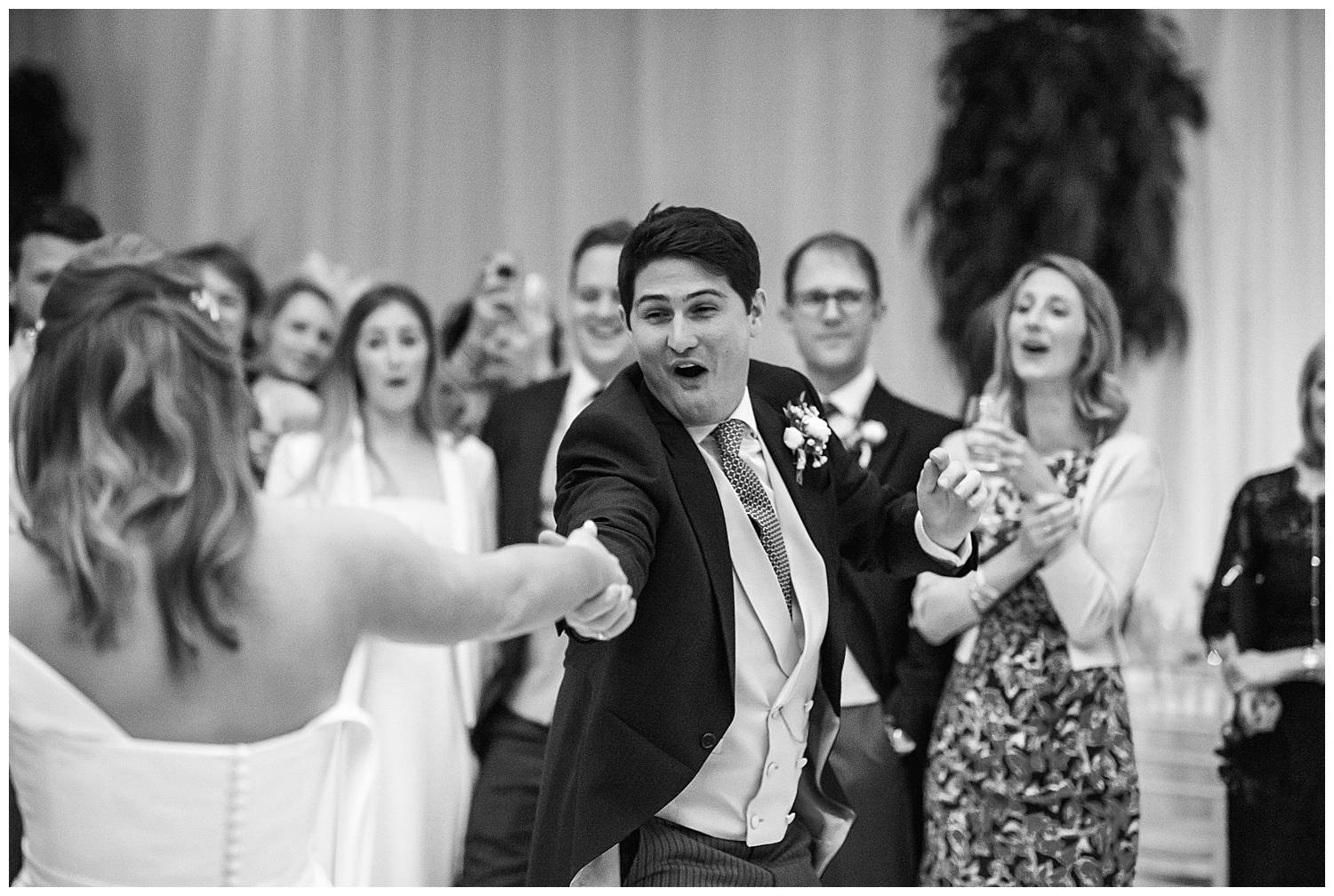 groom pulling dance moves