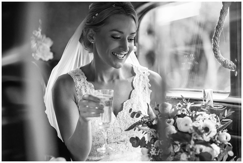 bride in rolls