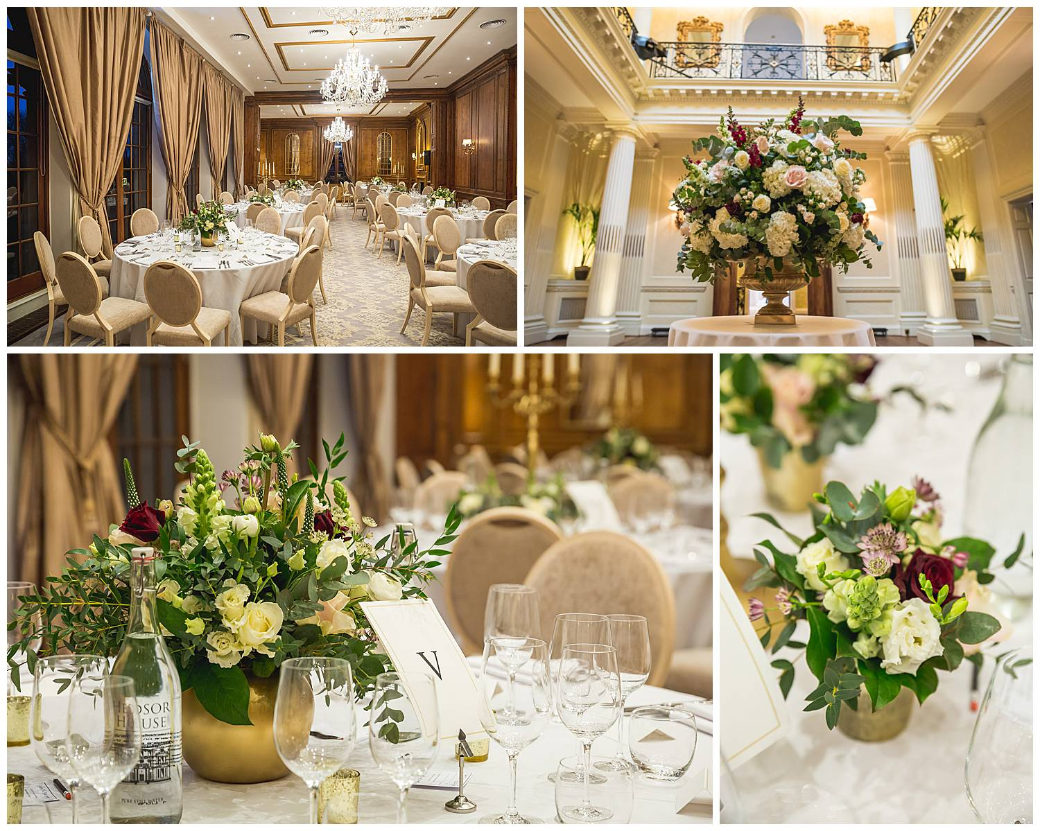 ballroom laid up hedsor house wedding