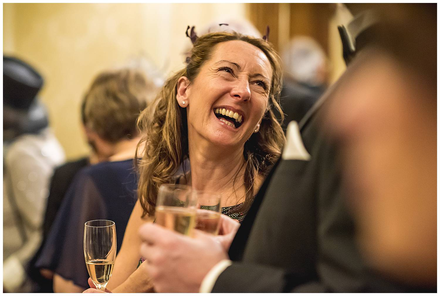 guests having fun hedsor house wedding
