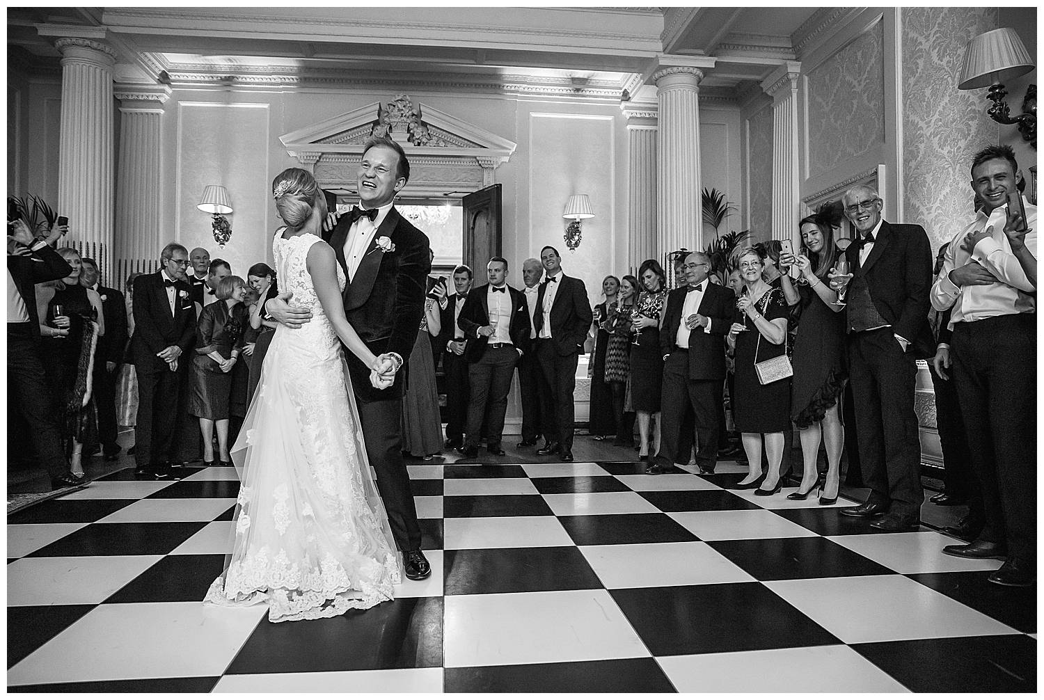 couple take their first dance together