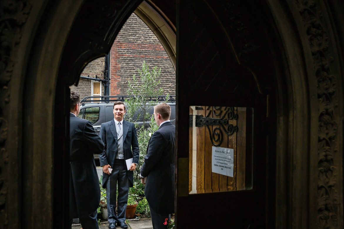 wedding at St Cuthbert's Church Earls Court