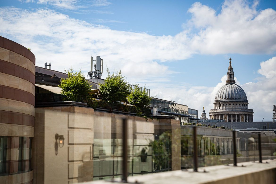 View of St Pauls from The Ned London