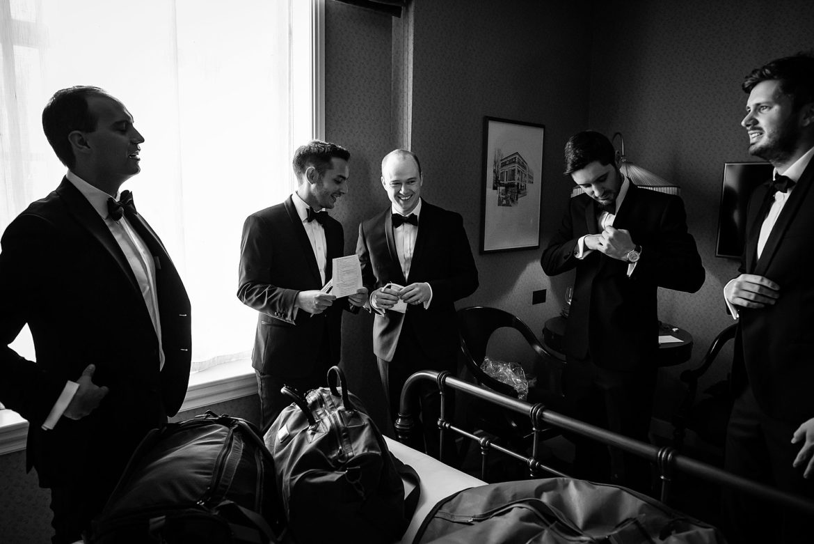 Groomsmen at The Ned London Wedding