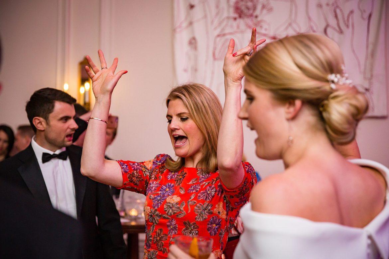 sister of the bride dances
