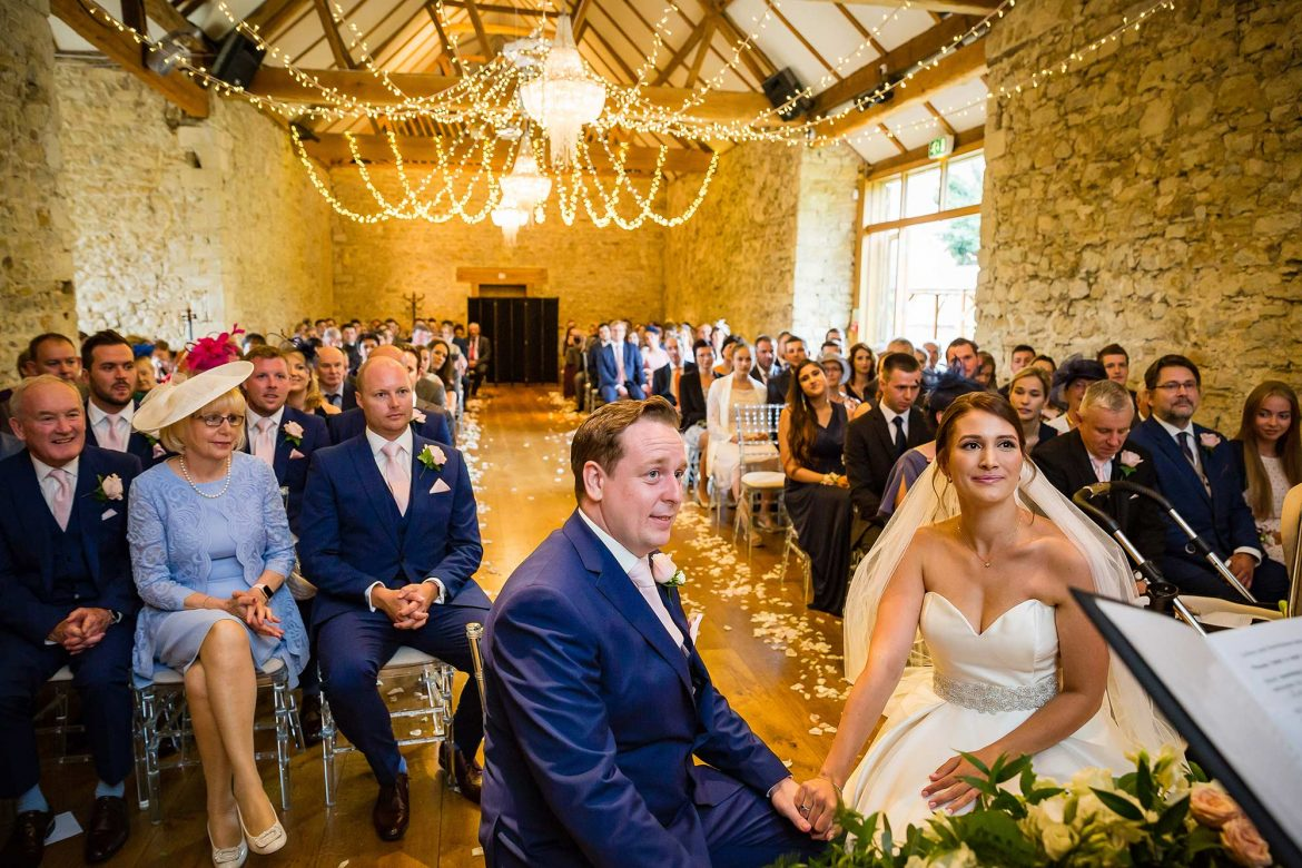 ceremony at Notley Abbey