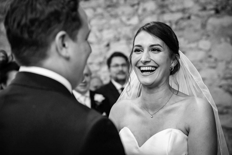 bride laughs at groom