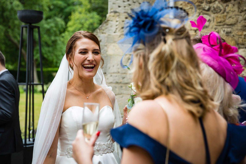 bride at Notley Abbey