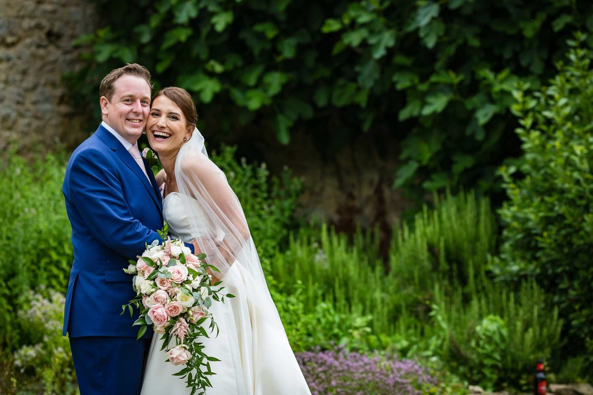 Notley Abbey Wedding couples shot