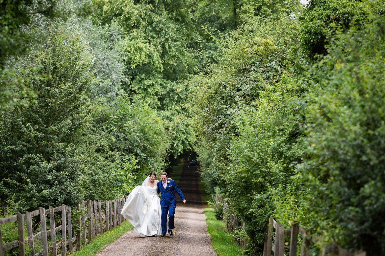 couple walking along the lane