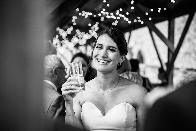 Notley Abbey Wedding bride
