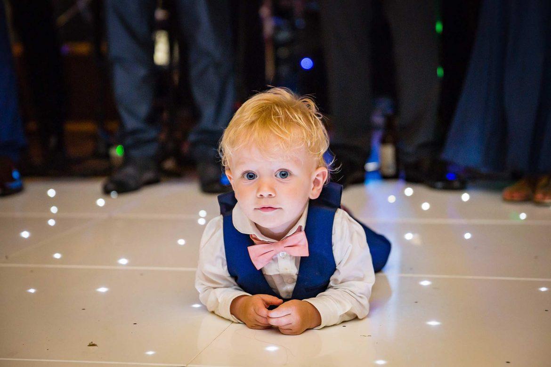 little boy on dancefloor