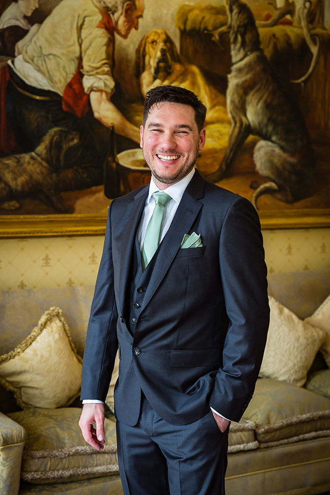 The groom at Brocket Hall