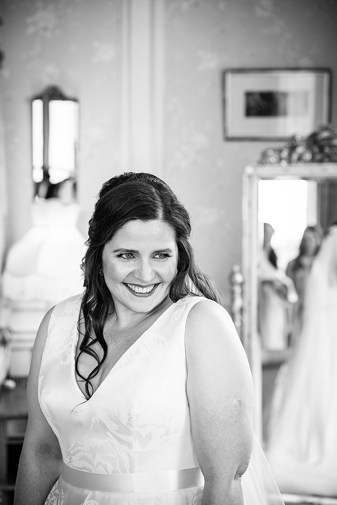portrait of bride at Brocket Hall Wedding