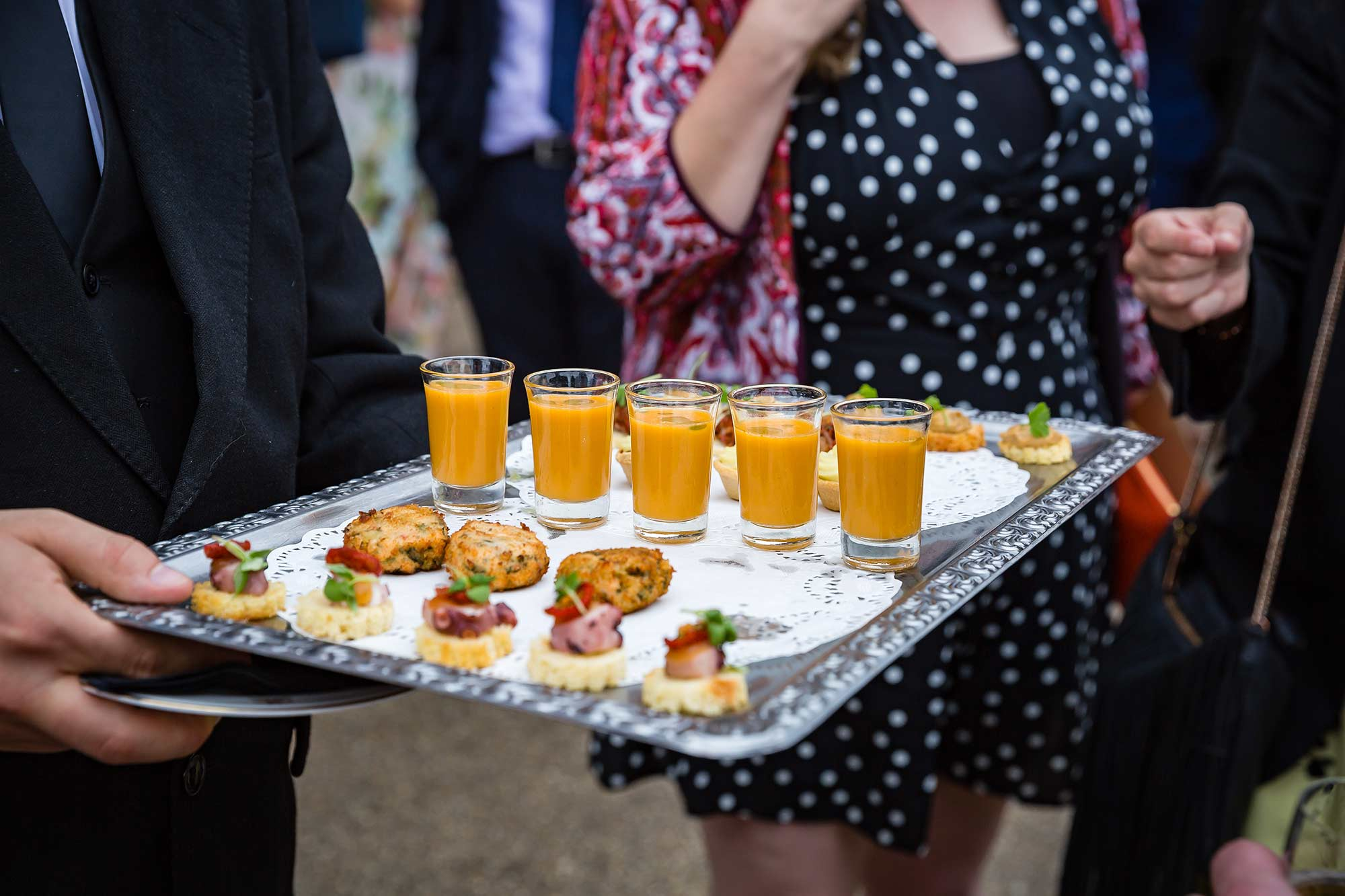 canapés at Brocket Hall