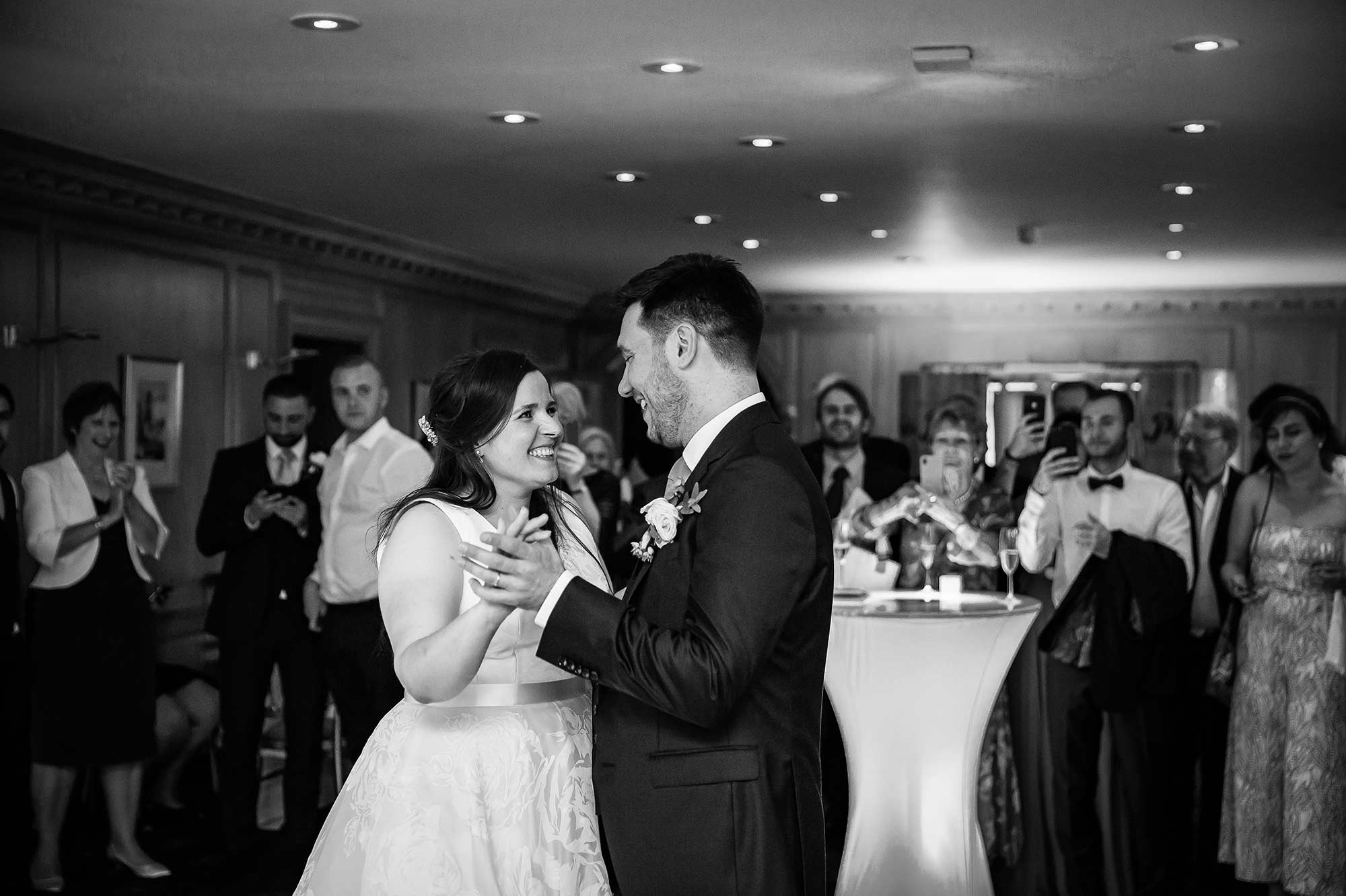 Couple dancing at Brocket Hall wedding