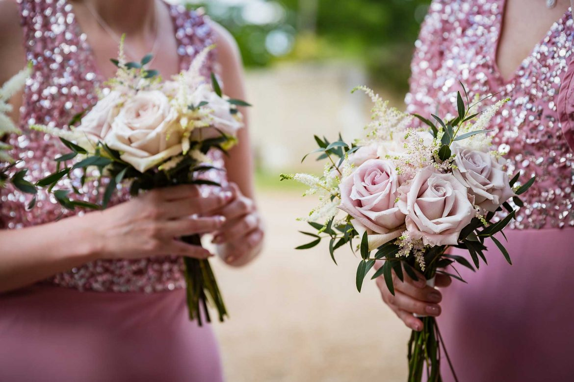 pink and cream bouquets