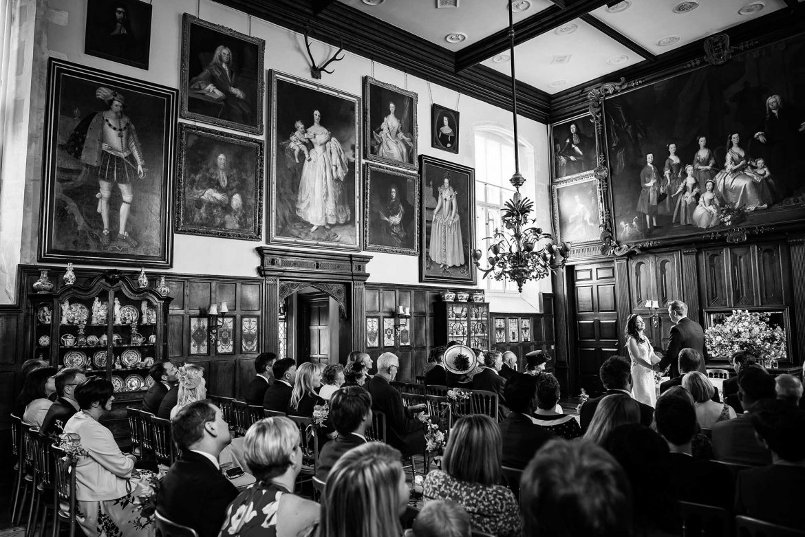 wide of the ceremony room at Loseley Park