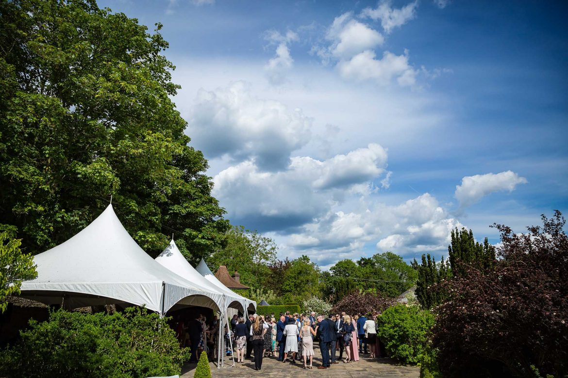The wedding walled garden Loseley Park