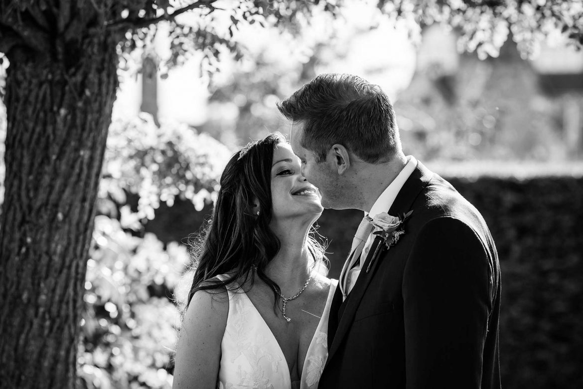 Loseley Park Wedding kiss