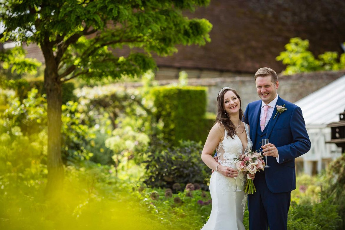 Loseley Park Wedding pictures in walled garden