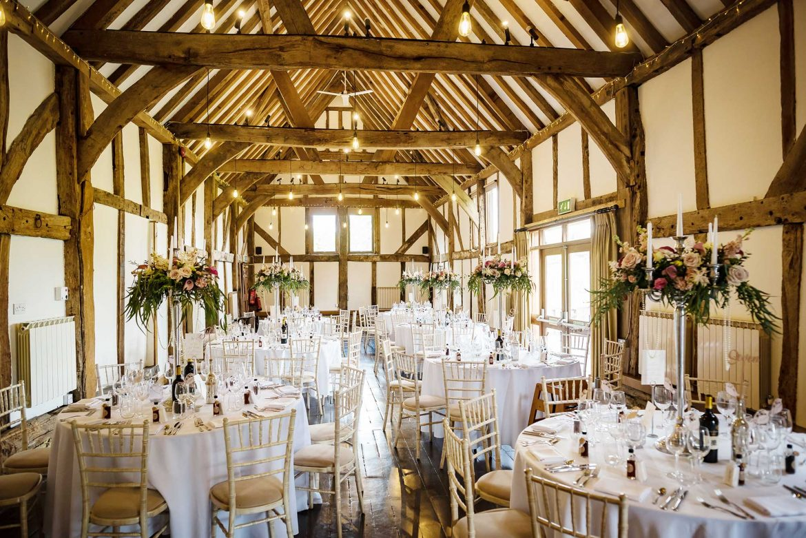 room set up Loseley Park Wedding