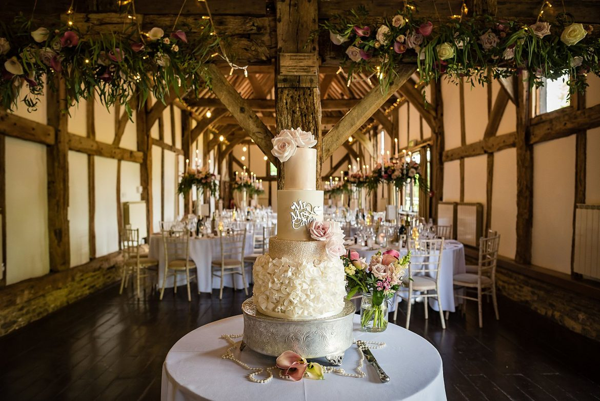 cake at Loseley Park Wedding