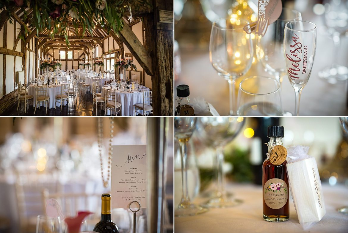 tables at Loseley Park Wedding
