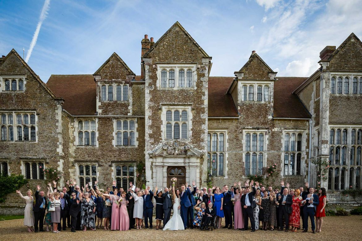 Loseley Park Wedding big group shot
