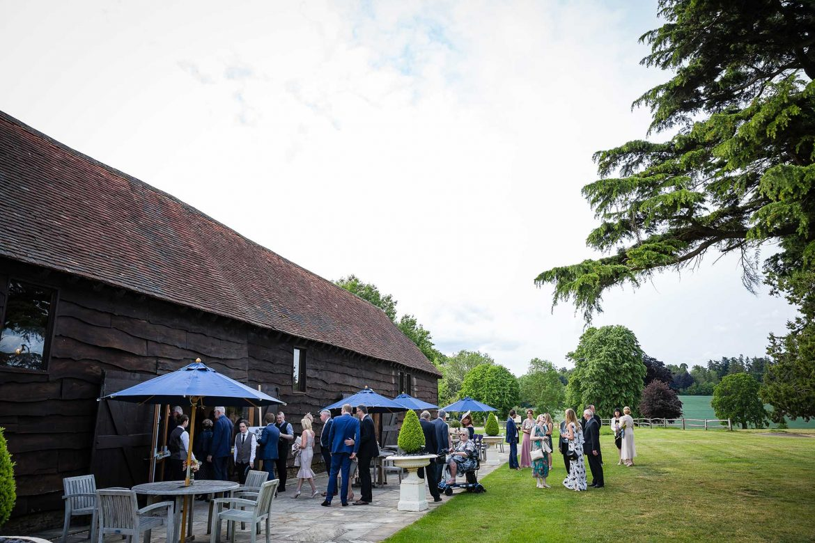 Loseley Park barn Wedding