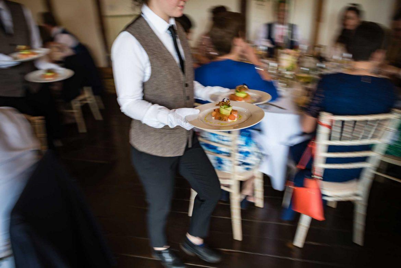 food at Loseley Park Wedding