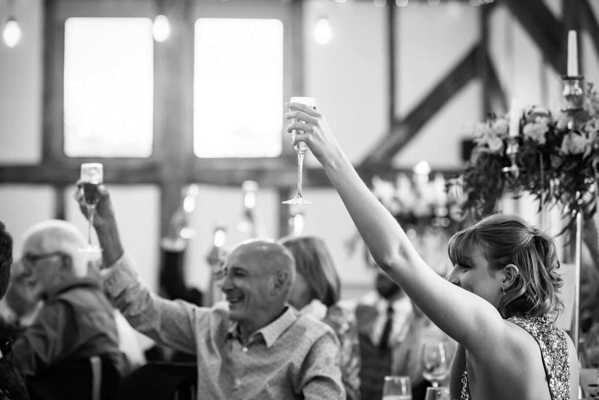 toast at Loseley Park Wedding