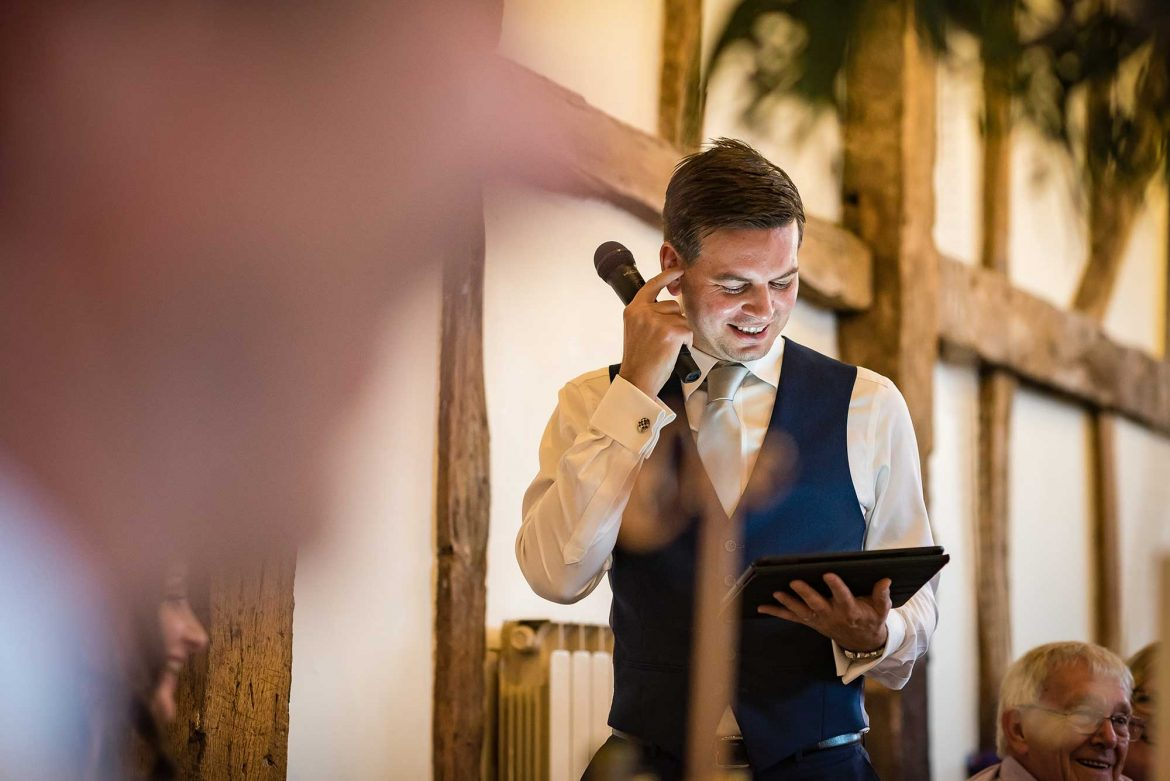 best man gives speech