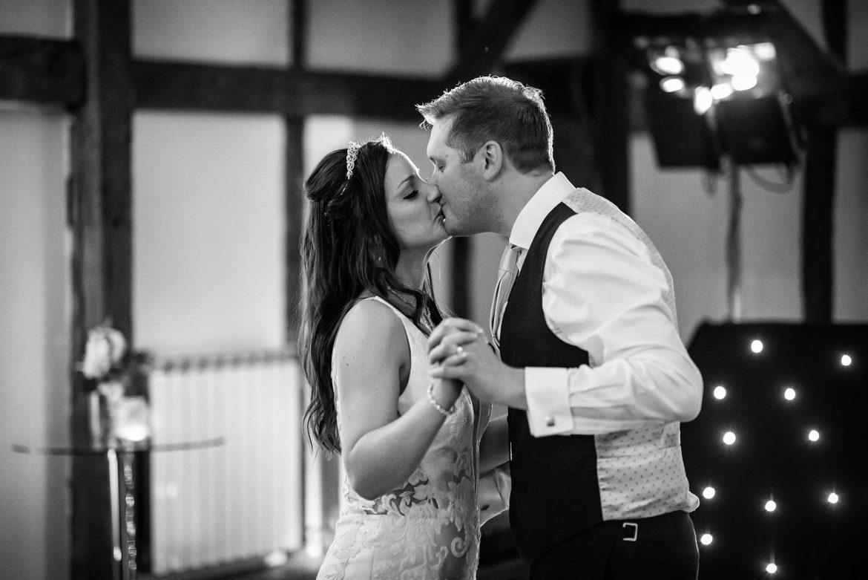 the couple kiss